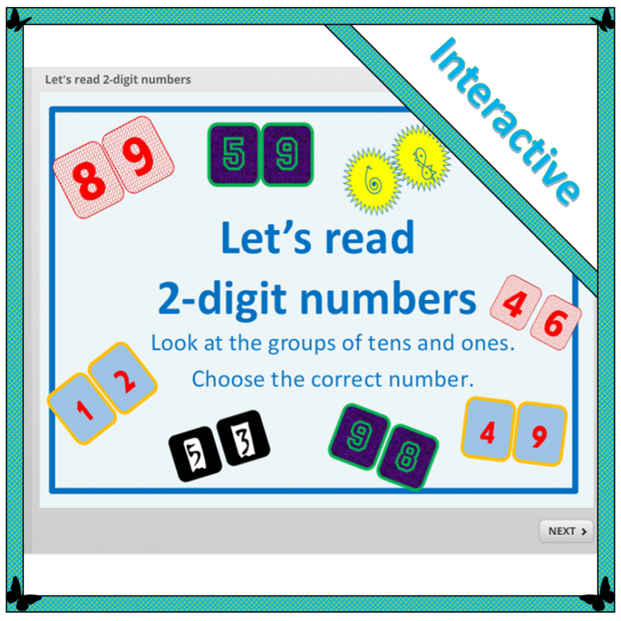 recognising 2-digit numbers