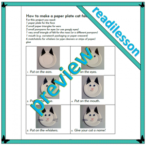 How to make a paper plate cat face - level 1