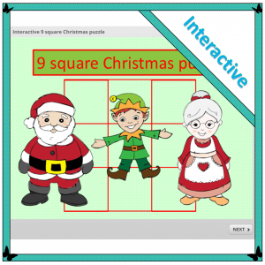interactive 9 square Christmas puzzle