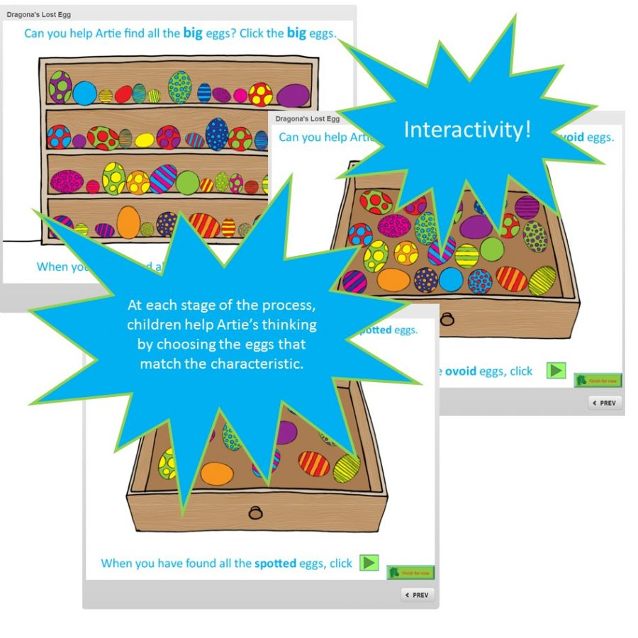 Dragona's Lost Egg - interactivity
