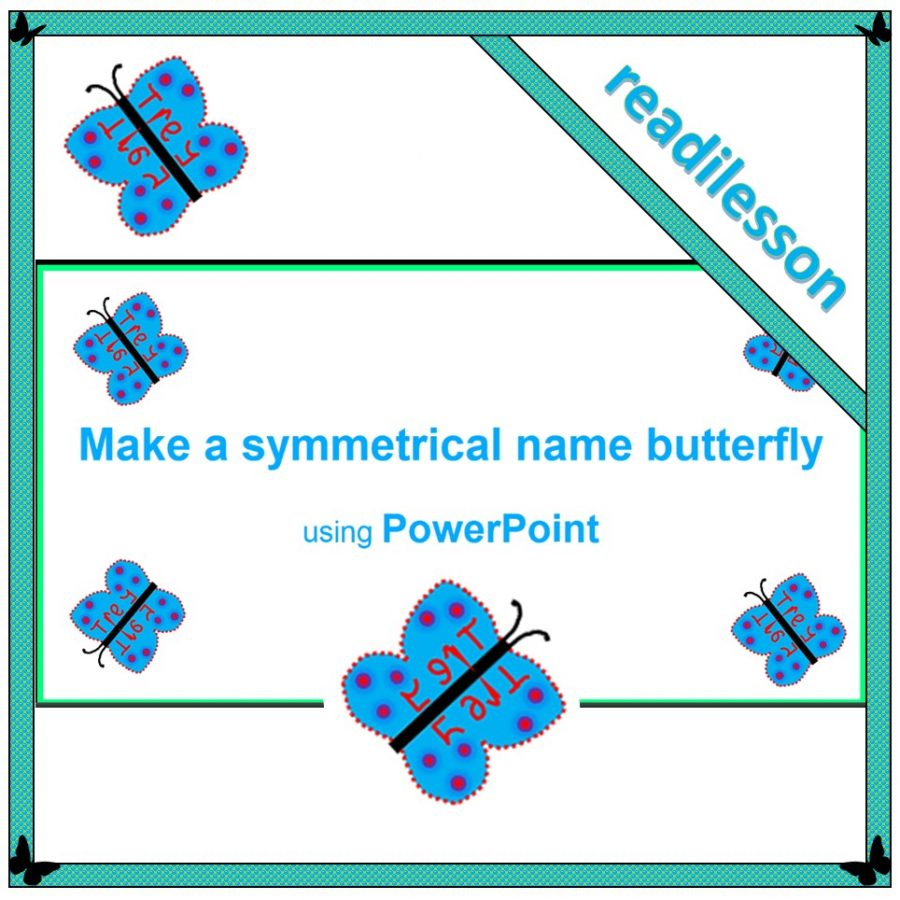 symmetrical name butterfly
