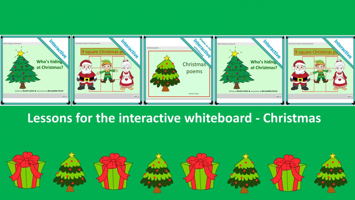 Christmas activities interactive whiteboard