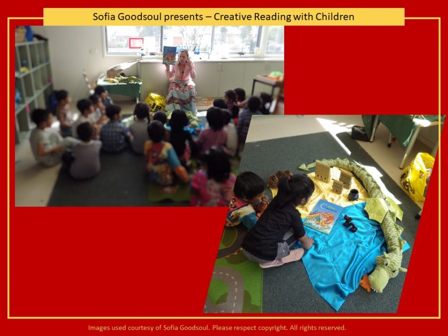 Sofia Goodsoul creative reading in class