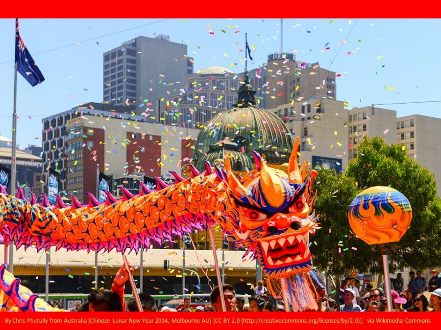Chinese New Year festival dragon