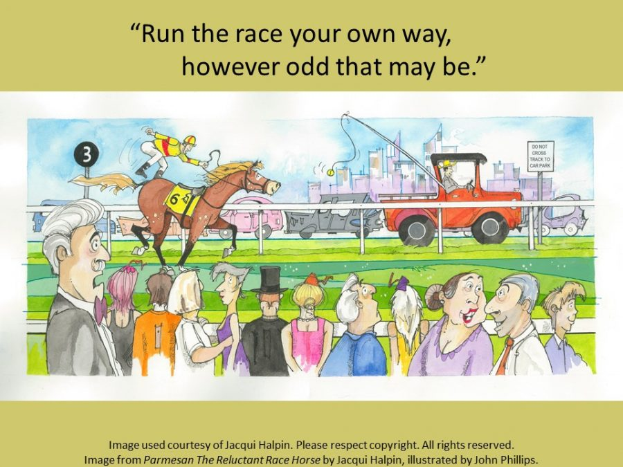 Jacqui Halpin quote run your own race