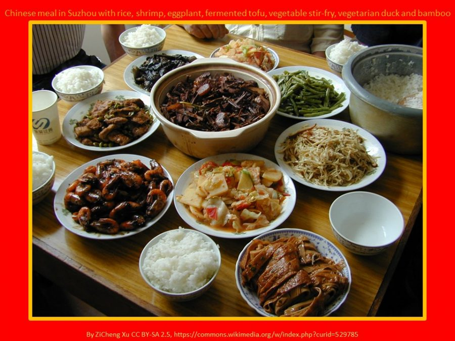 Chinese New Year celebration meal food