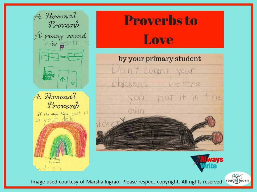 Using proverbs as a stimulus to writing in lower primary classrooms