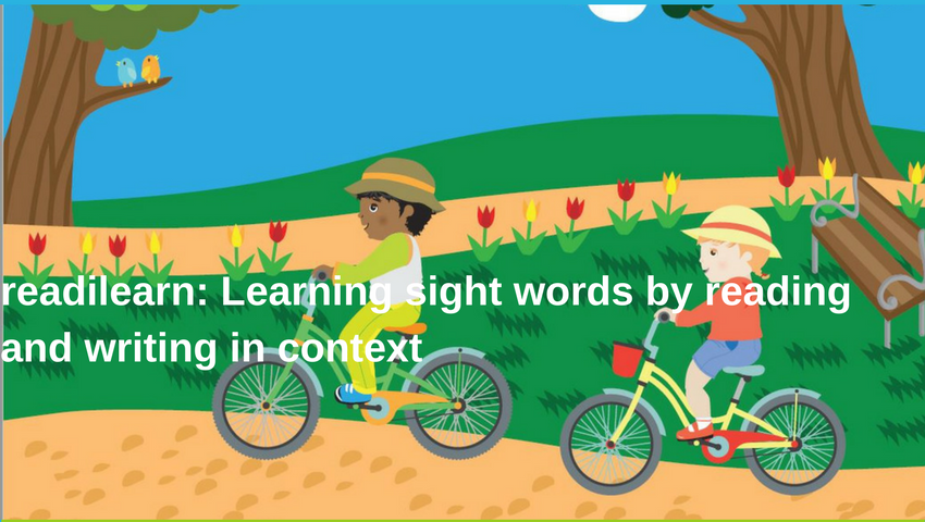 learning sight words in context