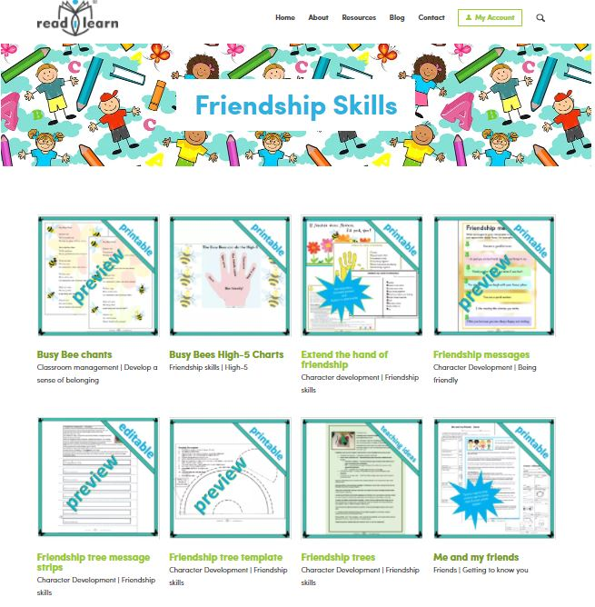 friendship skills teaching resources