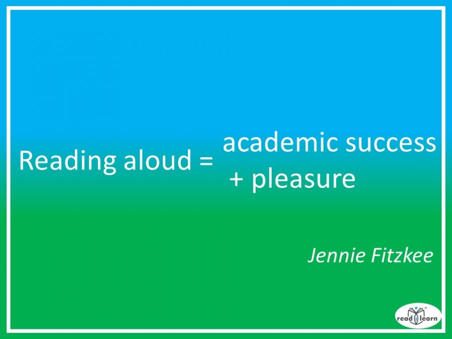 Jennie Fitzkee - reading aloud = academic success +pleasure