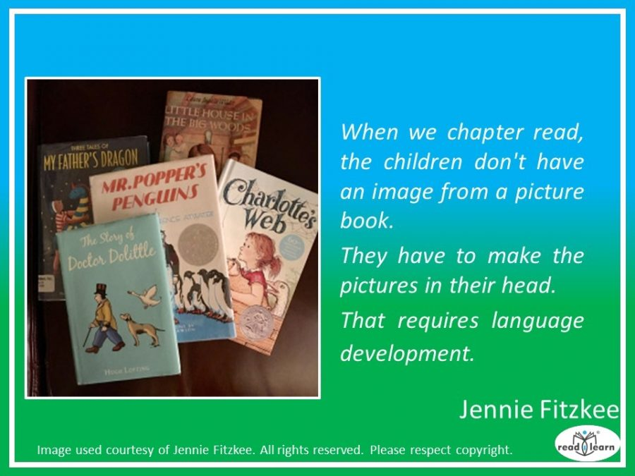 Jennie Fitzkee - chapter reading is great for even the youngest children