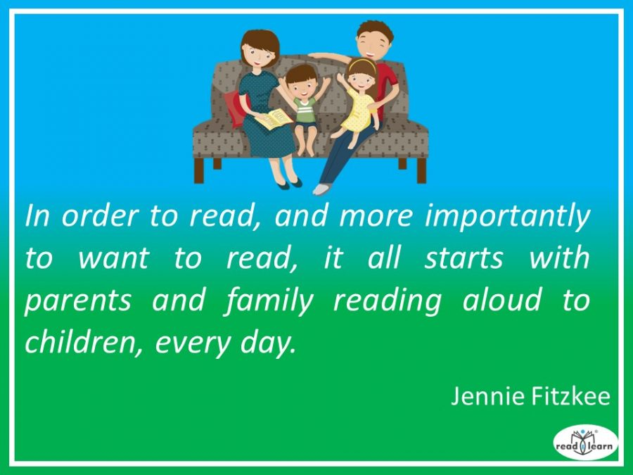 Jennie Fitzkee - on the importance of parents reading aloud to their children every day