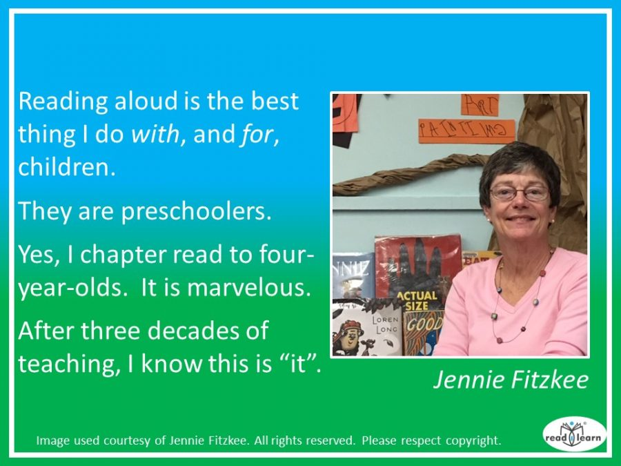 Jennie Fitzkee - reading aloud is the best thing for a child's language development