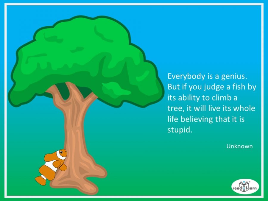 if a fish was judged by its ability to climb a tree it wouldn't be a genius