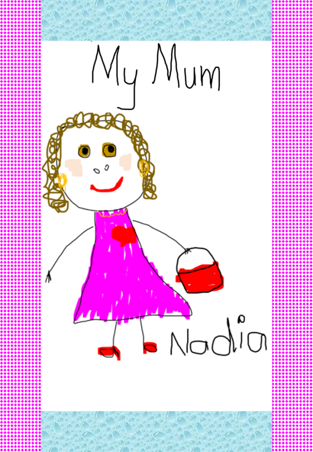 my mum portrait example of an activity for Mother's Day
