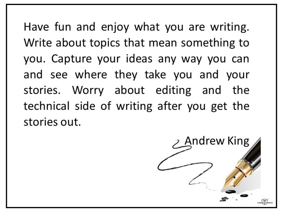 Andrew King author of the Engibear series advises to write about topics that mean something to you