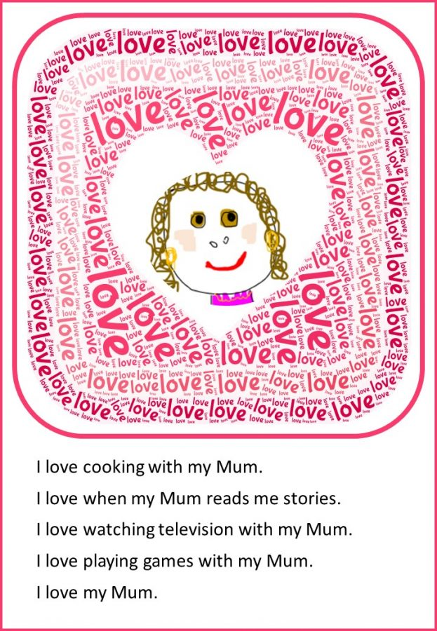 I love my Mum a poem to write for Mother's Day