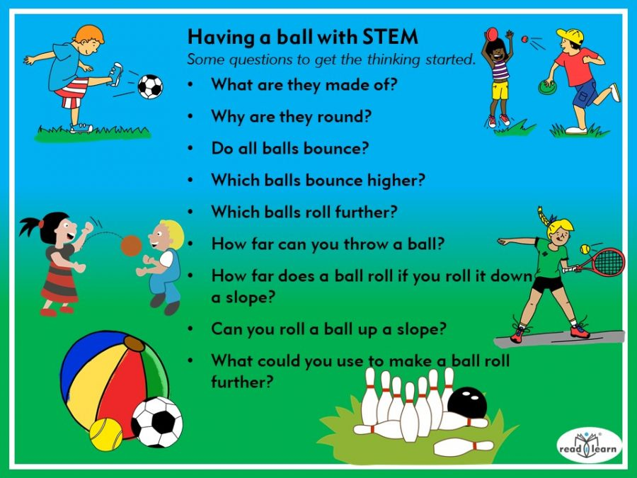 Having a ball with STEM, questions to stimulate STEM thinking about balls