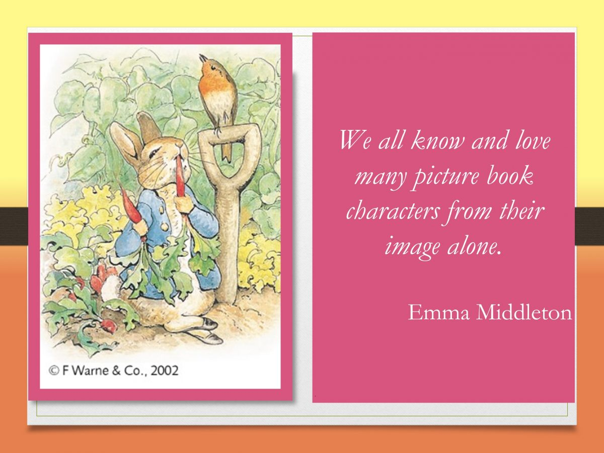 we become familiar with popular picture book characters