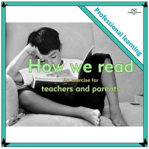 a exercise demonstrating the reading process to teachers and parents showing the importance of prior knowledge