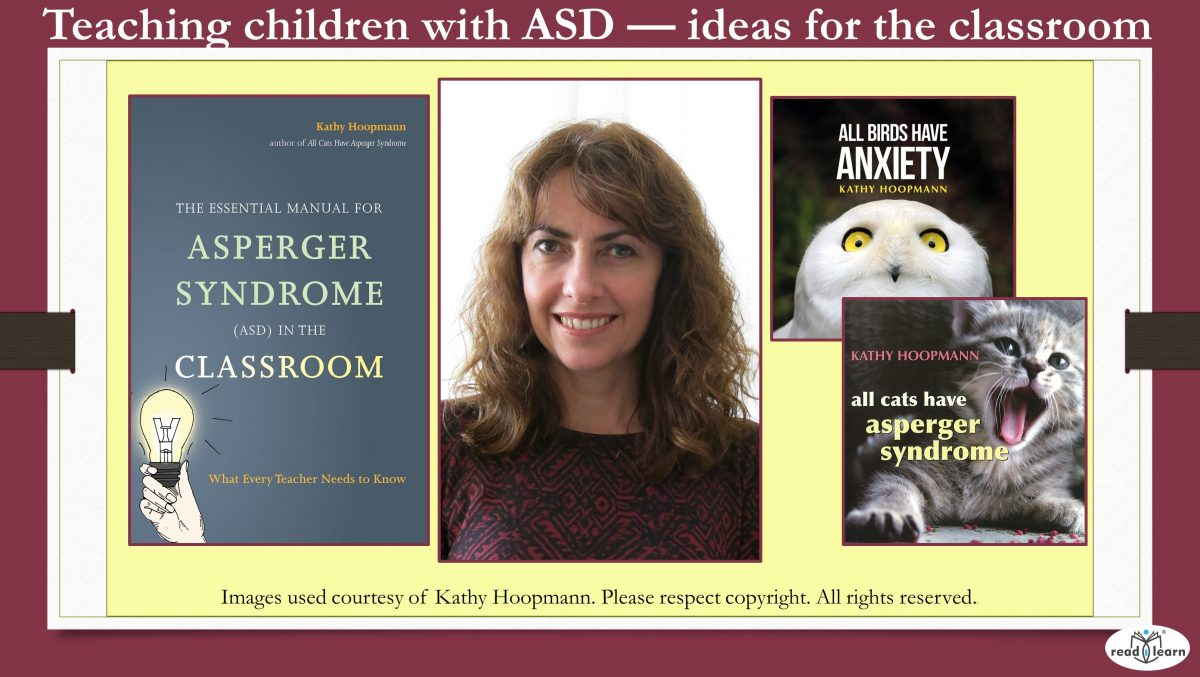 Teaching children with ASD - ideas for the classroom - guest post by Kathy Hoopmann