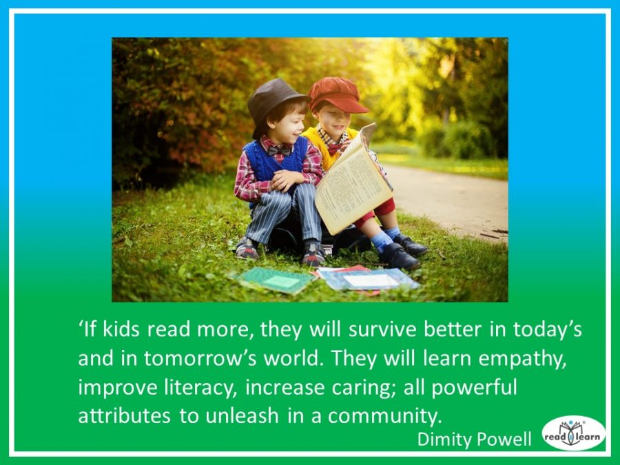 children who read more, survive better, says Dimity Powell