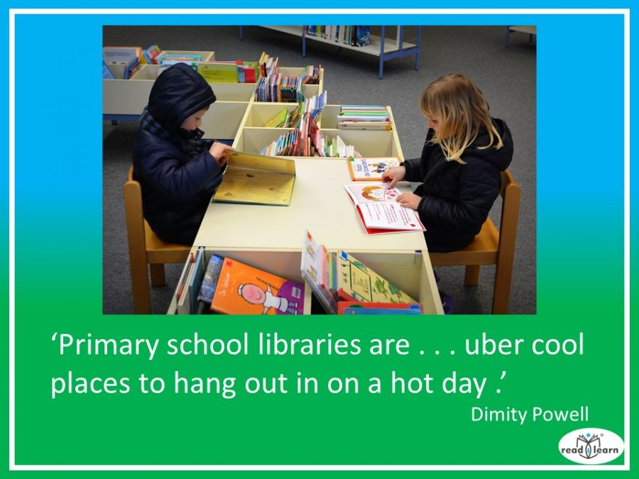 Dimity Powell says primary school libraries are uber cool