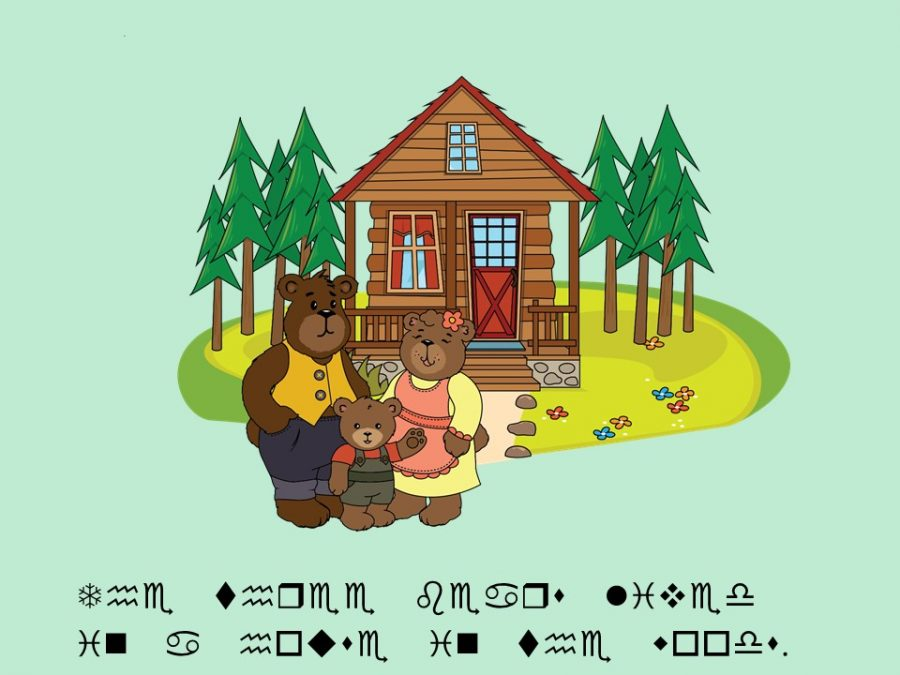 the three bears lived in a house in the woods