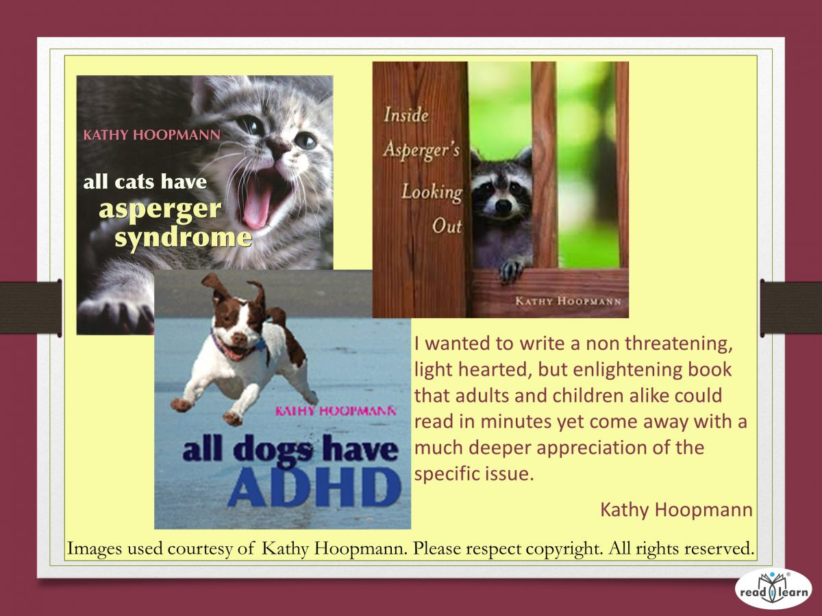 Three books about ADHD, Aspergers and anxiety by Kathy Hoopman