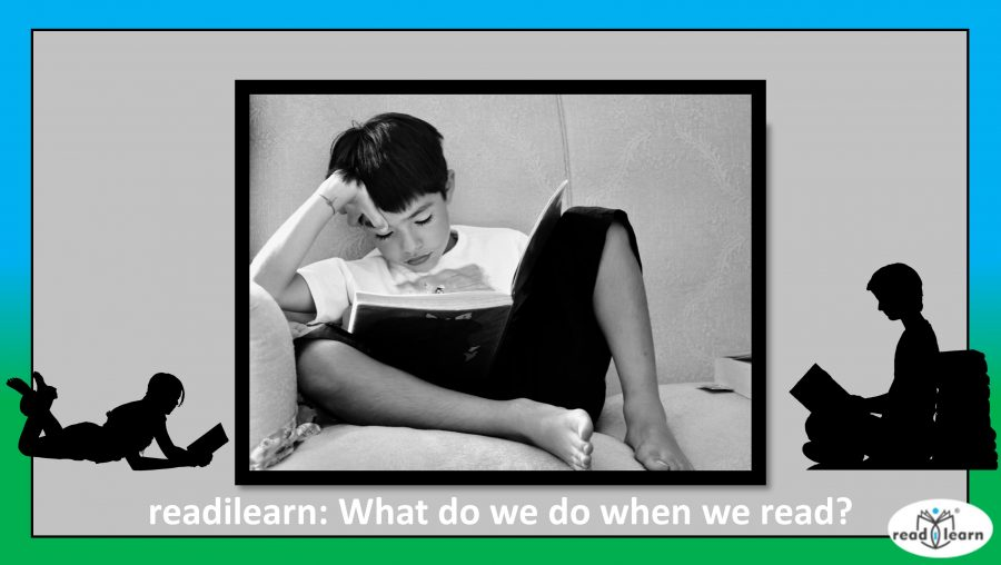 what do we do when we read - a boy reading