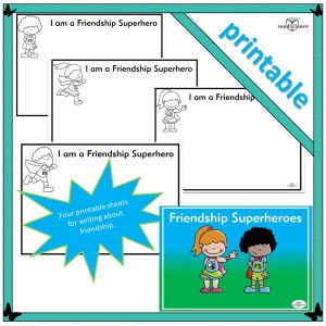 friendship superheroes gives children the opportunity of writing about actions they take that make them good friends