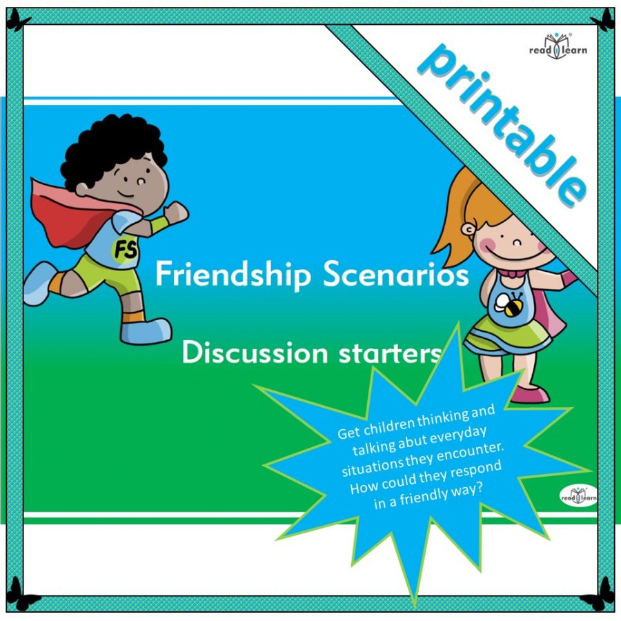scenarios to encourage children to discuss friendly actions appropriate in different situations