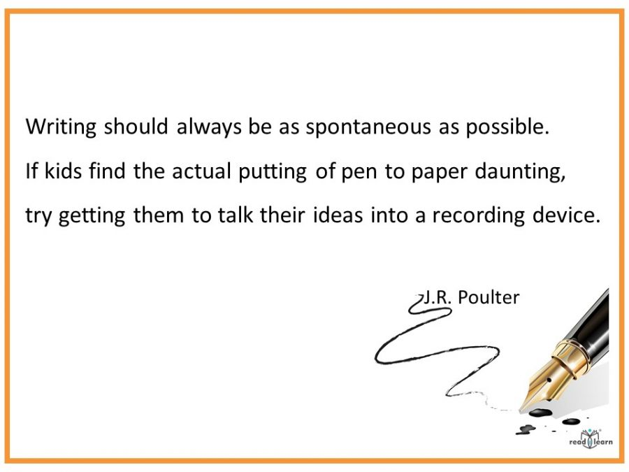 J.R. Poulter discusses writing