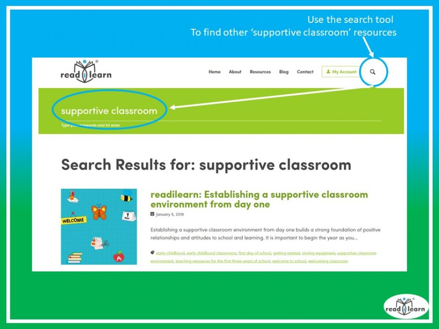 results when searching for key word supportive classroom