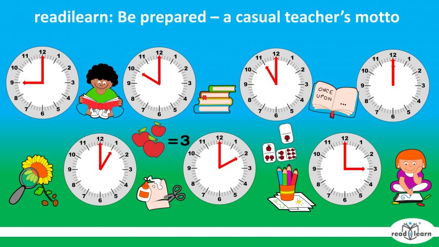 be prepared - a casual teacher's motto - suggestions for teaching