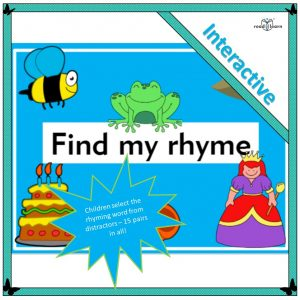 children identify rhyming words - an interactive resource - develops phonological awareness for beginning readers