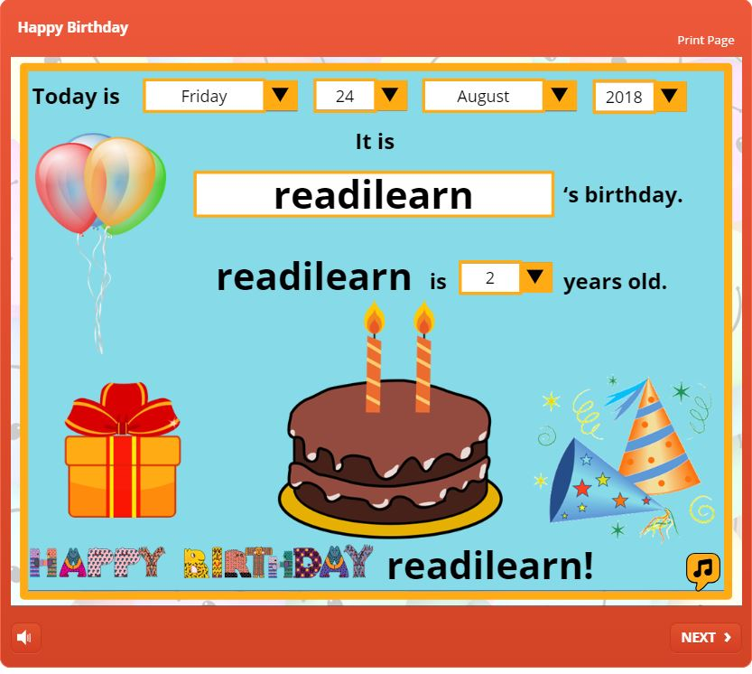wishing readilearn a happy second birthday