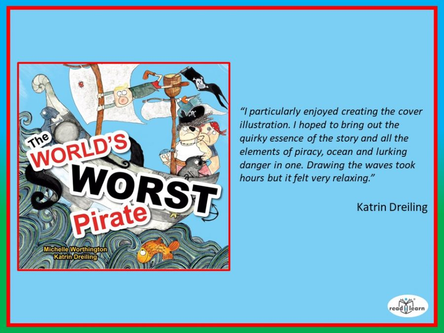 Katrin Dreiling's favourite illustration is the cover of The World's Worst Pirate