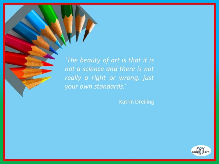 quote by Katrin Dreiling re the beauty of art not being a science