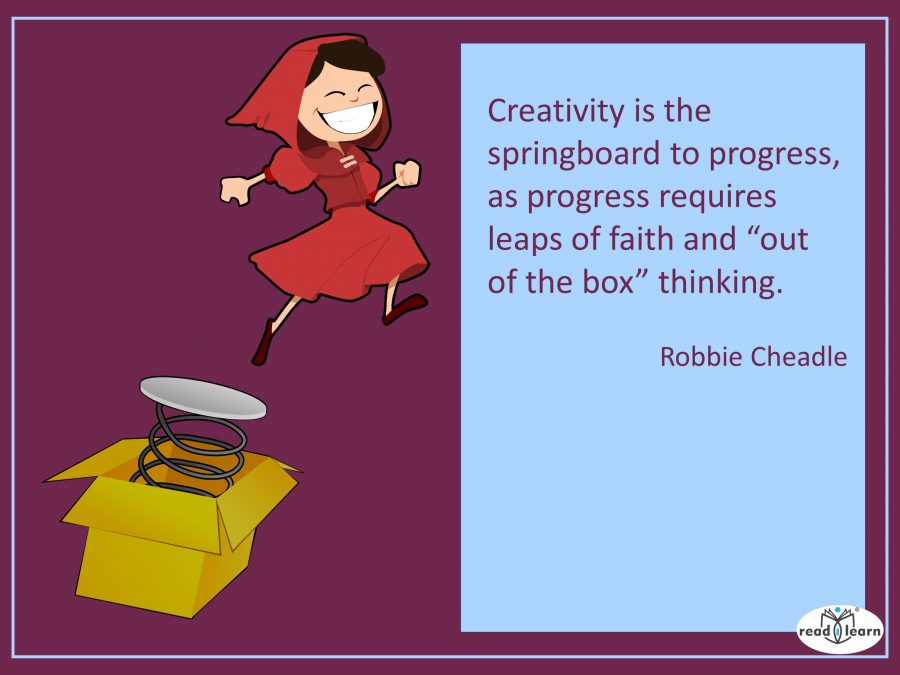 creativity quote by author illustrator Robbie Cheadle