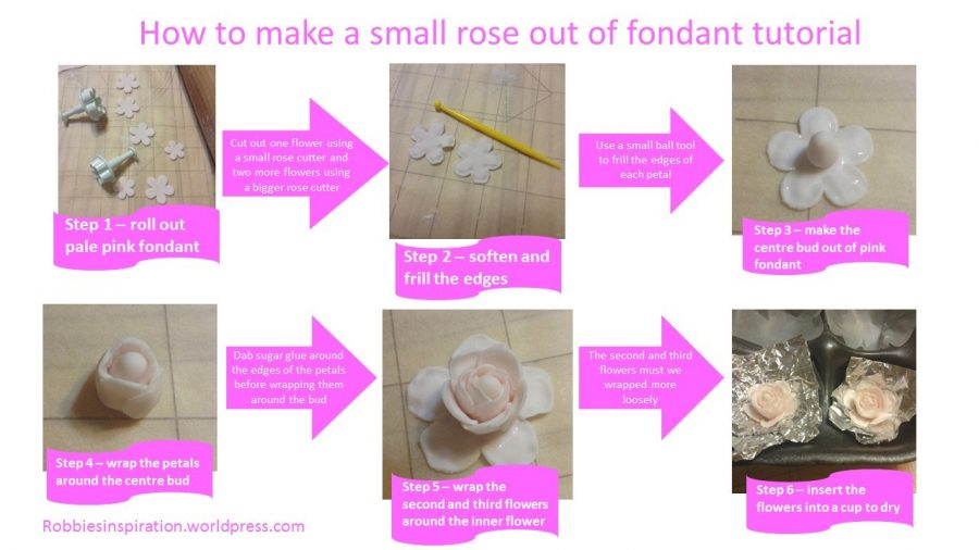 How to make a rose by author Robbie Cheadle