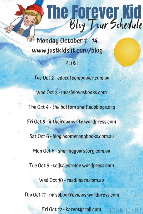 The Forever Kid by Elizabeth Mary Cummings blog tour schedule