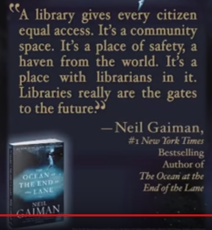 Neil Gaiman quote about libraries