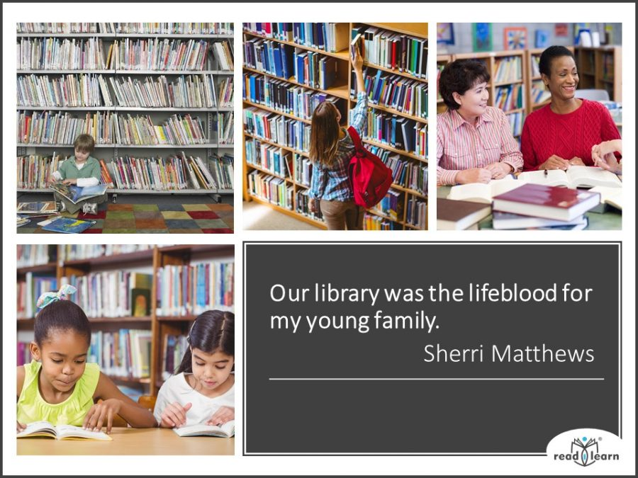 quote about libraries by Sherri Matthews