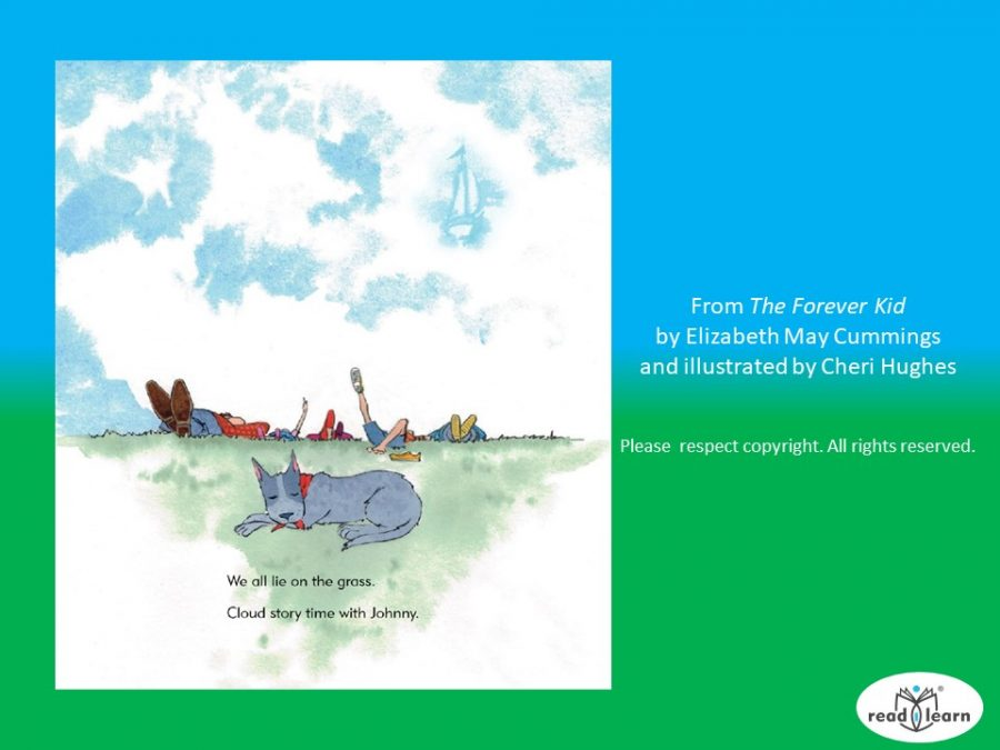 Telling cloud stories in The Forever Kid by Elizabeth Mary Cummings