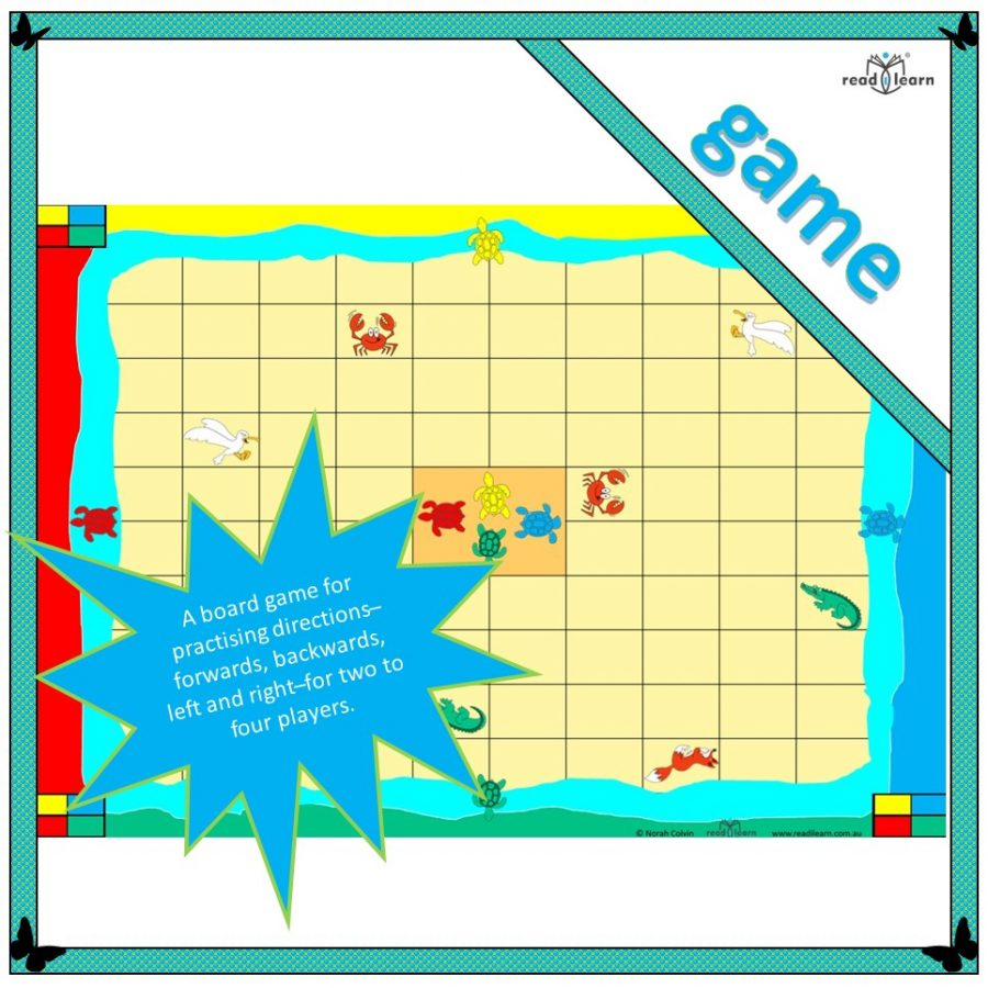 a game for practising directions - forwards, backwards, left, right