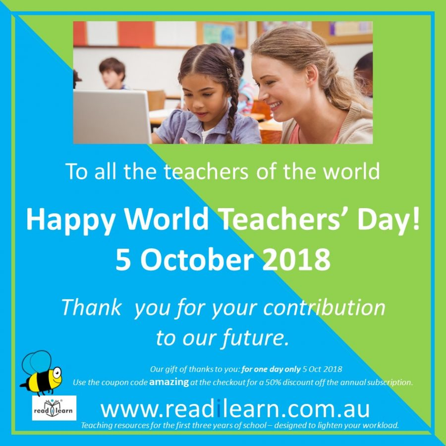 Happy World Teachers' Day 2018 and special offer