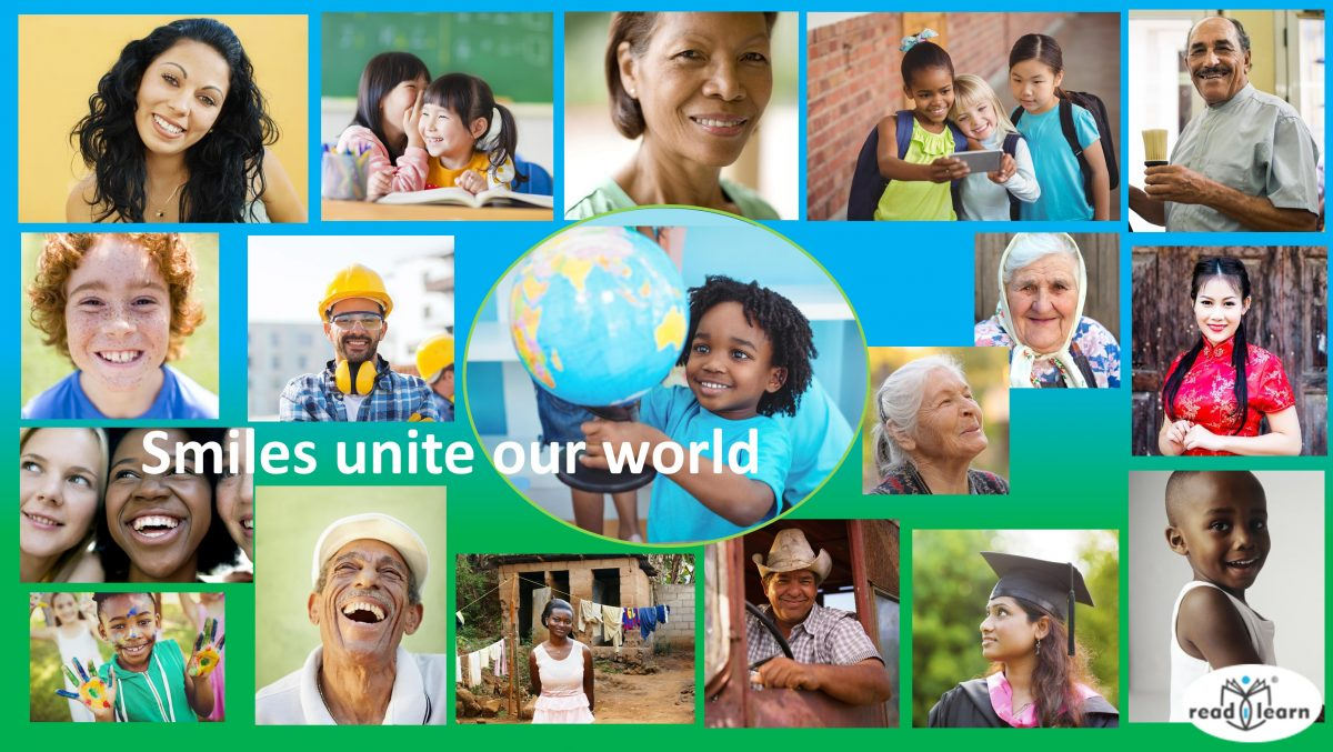 smiles unite our world - Happy World Teacher's Day, Smile Day, and Space Week