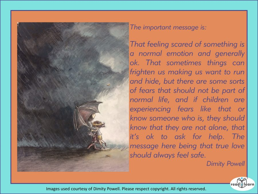 Important message: feeling scared is normal