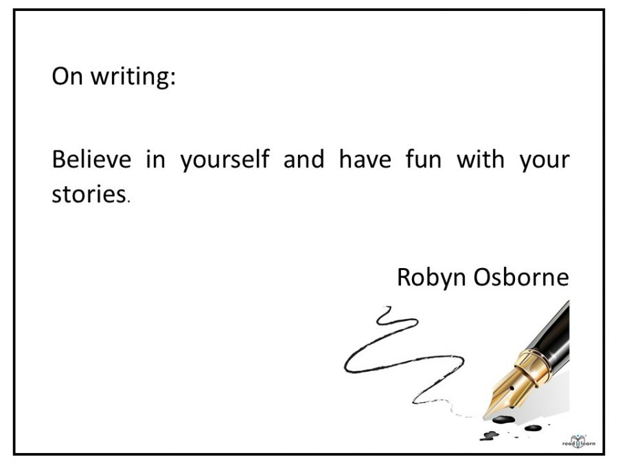 quote by picture book author Robyn Osborne on writiing